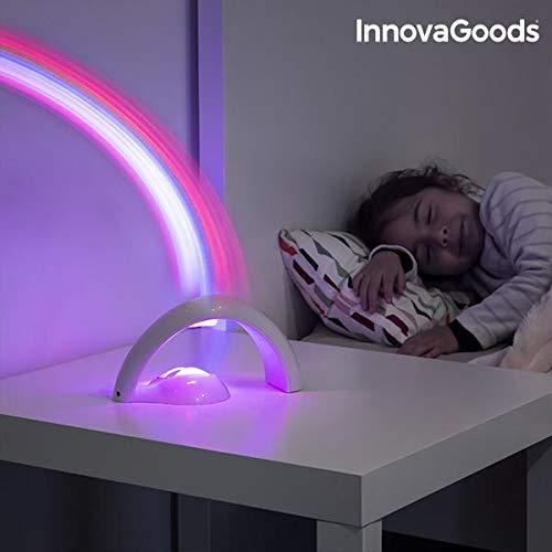 InnovaGoods Proyector LED Infantil Arcoíris, Blanco