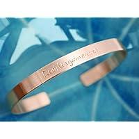 Kupfer Armreif Lieblingsmensch handgestempelt 6mm breit - bis 20 Zeichen