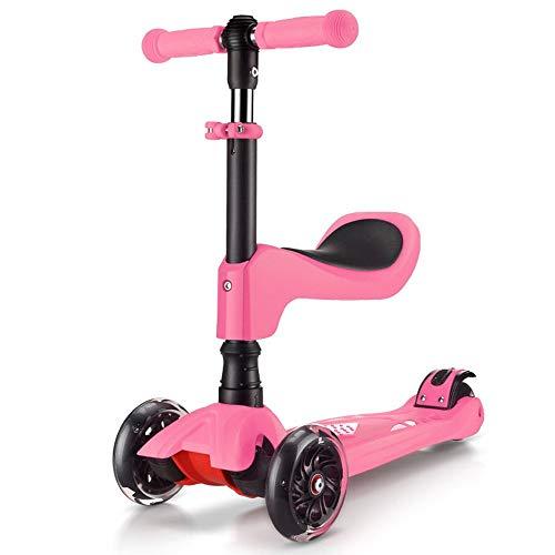 HhGold Kinderwagen Kinder-Roller Allrad-Kinder-Roller Flash-Rad Infant Verbreiterungsroller (Farbe: 5) (Farbe : -, Größe : -)