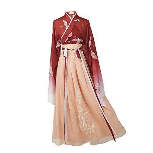 Shisky Damenbekleidung, weiblich, weiblich, Sommer, Kostüm, Cosplay, antik, Kleiner Frühlingskranich, gestickter Anzug