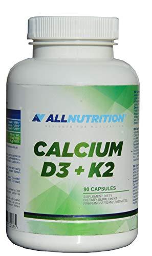 Calcium mit Vitamin D3, K2 (MK-7), 90 Kaps. für gute Knochendichte, gegen Osteoporose und Knochenbrüche, besonders im Alter, 2 caps. am Tag, Calcium 750mg, Vit. D3 50ug (2000 I E), Vit. K 100ug,