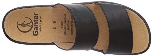 Ganter - SONNICA, Weite E, ciabatte  da donna Nero(Schwarz (schwarz 0100))