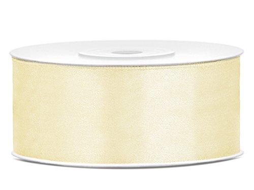 Simplydeko Satinband   Satin-Band/Schmuckband   Satinbänder (Creme, 25mm)