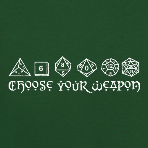 Choose your Weapon (D&D Dice) - Herren T-Shirt - 13 Farben Flaschengrün