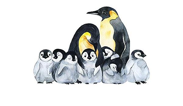 Autocollants Muraux Mignon Pingouin Caméra Kids Baby Portable Filles Garçons Living porte G929