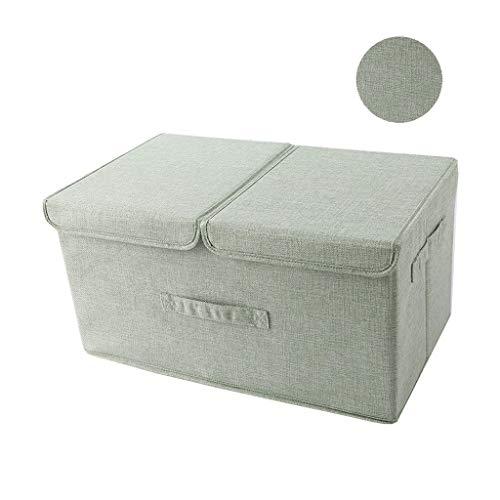 Mit Doppelte Deckel, Baumwollkleidung Faltbar Tragbar Waschbar, Kleider Kinder Aussortieren Kisten (Color : B, Size : 19.7 * 11.8 * 9.8 inch) ()