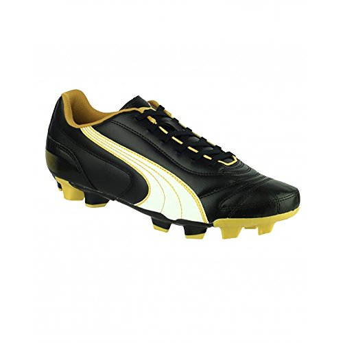 Puma Kratero - Chaussures de football à crampons moulés - Garçon Noir/Blanc