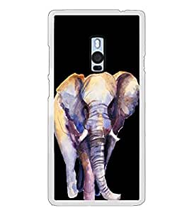 Elephant 2D Hard Polycarbonate Designer Back Case Cover for OnePlus 2 :: OnePlus Two :: One +2