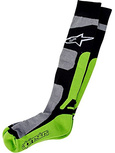 Alpinestars Mx Socken 2014 Tech Coolmax Grau-Schwarz-Grun (L / Xxl , Grau) (Alpinestars Socken Coolmax)