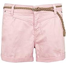 722bd35ec26ff Sublevel Damen Chino Shorts mit schmalem Flechtgürtel | Kurze Hose aus  Twill-Material