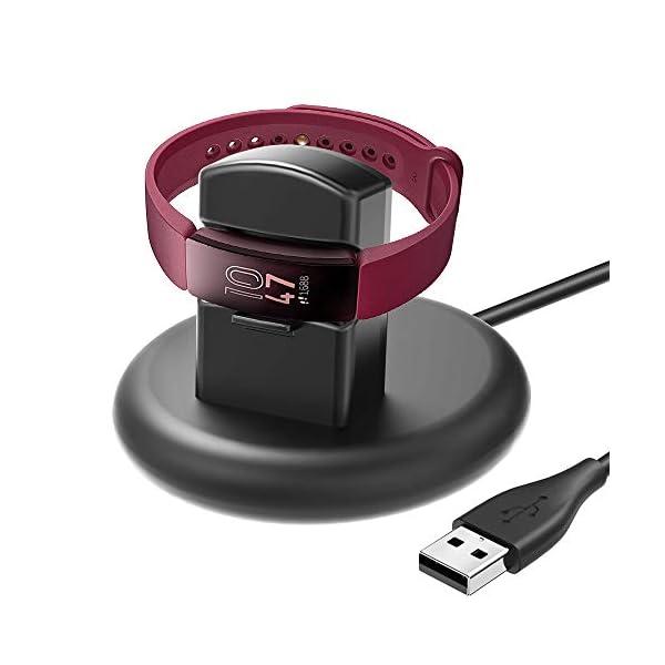 KIMILAR Cargador Compatible con Fitbit Inspire/Inspire HR Cable, 80° Base de Carga USB Repuesto Cargador para Inspire… 1