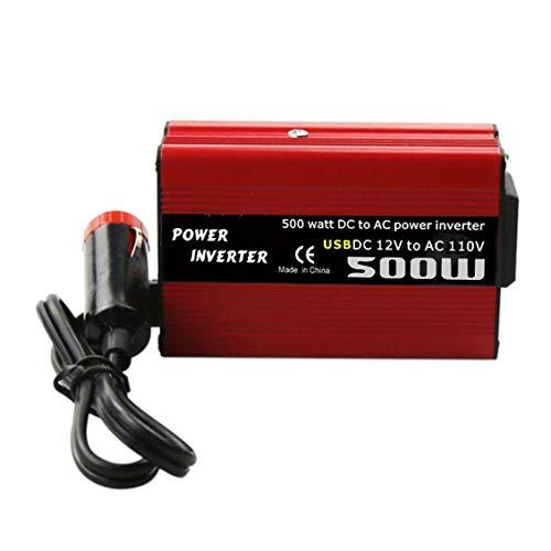 ForceSthrength 500W DC to AC Power Converter DC 12V to 110V 220V AC Car Inverter with Dual USB 110v Ac Power Inverter
