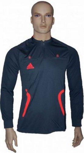 Adidas Referee Jersey Long sleeve Herren Schiedsrichtertrikot Schiedsrichter Shirt Trikot Formotion ClimaCool Fussball Fußball JSY LS Formotion longsleeve Männer grau 46 S