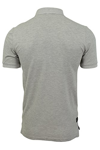 ... Herren Polo T-Shirt von Dissident `Dunraven`kurzärmlig Lt Grey Marl