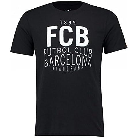 Nike Squad Tee - Maglietta manica corta Linea F.C. Barcelona da uomo, colore Nero, taglia 2XL