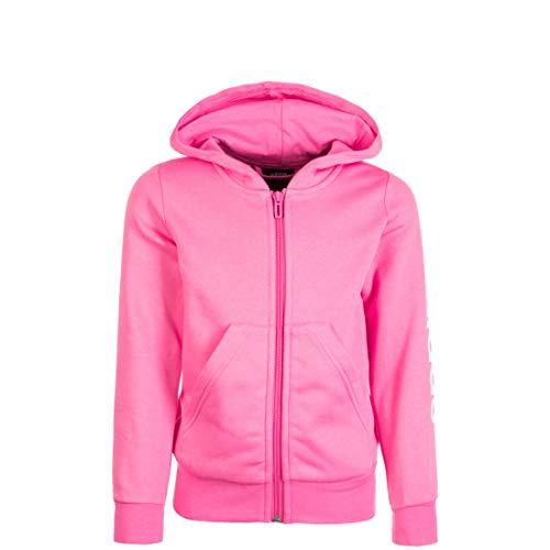 adidas Performance Essentials Linear Kapuzenjacke Kinder rosa/weiß, 128
