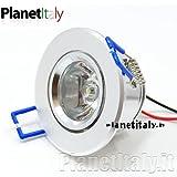 Strahler LED Punkt Licht 1x 5W Bohrung eingebaut 5cm Dekorative Weiß Natur Mono LED Spot Light