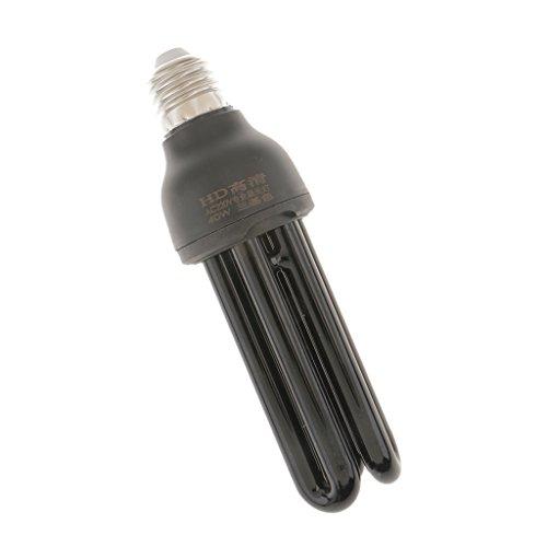 Baoblaze E27 UV Lampe Glühbirne Glühlampe Schwarzlicht Energiesparlampe Nachtlicht 220V 20W/40W - 40W Straight