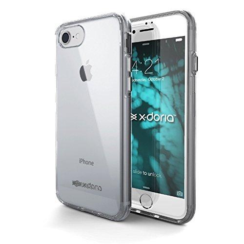 iPhone 7 Case Plus, X-Doria (Clear Vue) pour iPhone 7 Plus, Effacer Vu, deux fortes Matériel de protection, Ajouter Retour Edges coin, Premium de protection iPhone 7 Case Plus(rose) Fumée