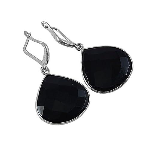 Black Onyx Gemstone Earring PG-128800