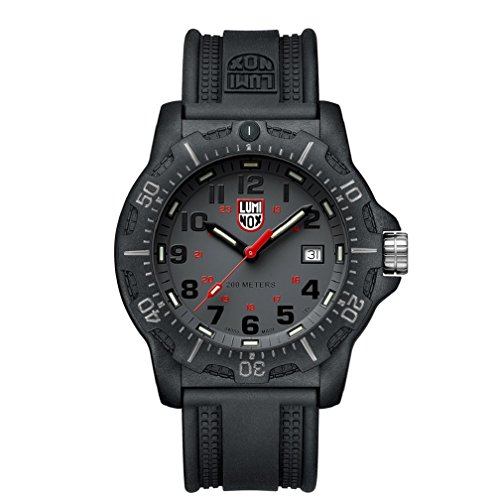 Luminox Black Ops 8880 series Watch with carbon compound Case Gray|Black|Red Dial and PU Black Strap XL.8882