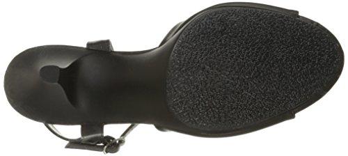 Fabulicious Belle-309, Sandales Bout Ouvert Femme Blk Faux Leather/Blk Matte