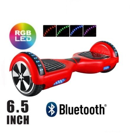 'smarthlon I1 6,5 eléctrico Scooter Red, BT Speaker, Bag, Fender LED, Remote