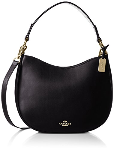 COACH Women's Glovetanned Coach Nomad Crossbody LI/Black Hobo (Coach Hobo)