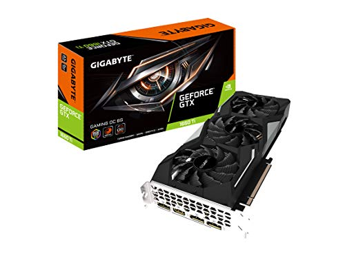 GIGABYTE GeForce GTX 1660 Ti Gaming OC 6G GDDR6 DisplayPort 1.4 HDMI 2.0B with Windforce 3X Cooling System Graphic Cards- Gv-N166TGAMING OC-6GD