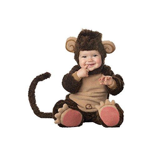 Affen-Kostüm für Babys mit lustigen Ohren - Premium 86 (12-18 ()