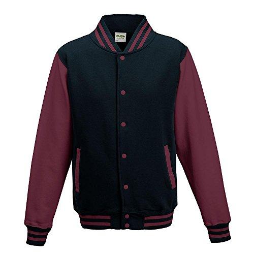 Just Hoods - Unisex College Jacke 'Varsity Jacket' Oxford Navy/Burgundy