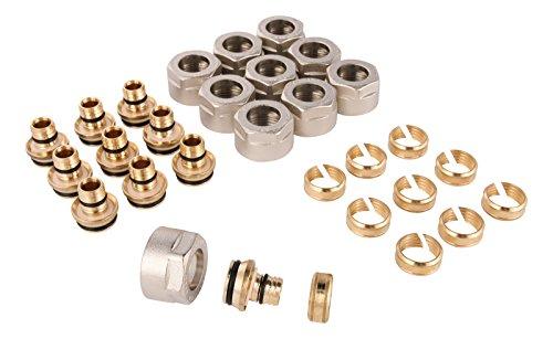WIROFLEX | Klemmring-Adapter für Wiroflex-Rohr | 10er Set | Schraubsystem | Fitting | 3/4 A x 20 mm | Für Mehrschichtverbundrohr