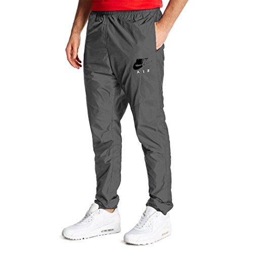 Nike Air Feinmaschige Trainingshose Hose für Herren Gr. M, grau