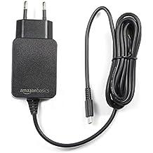 AmazonBasics - Cargador CA de un solo voltaje, para Nintendo Switch (no compatible con modo TV), negro