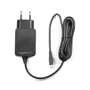 AmazonBasics – Ladegerät für Nintendo Switch (TV-Modus wird nicht unterstützt), Einzelspannung (Gleichstrom), Schwarz