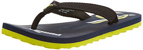 Puma Boy's Wave Jr DP. Peacoat-Fluro Yellow-White Mesh Flip Flops and House Slippers - 11C UK  available at amazon for Rs.243