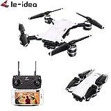 Drone con camara-TianranRT Le-idea IDEA10 RC Drone GPS WiFi FPV 1080P Cámara Gran Angular Quadcopter Hover,blanco