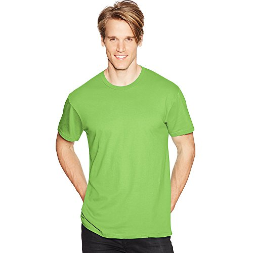 Hanes Mens Nano-T T-Shirt Lime