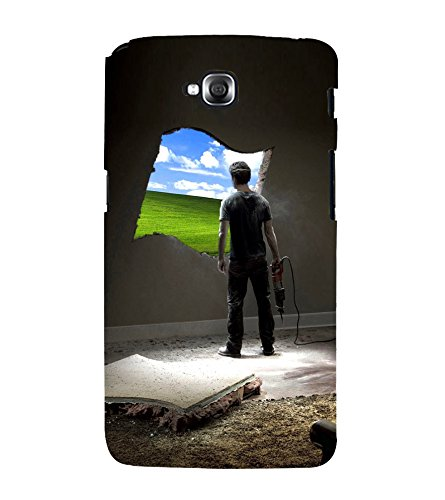 Print Masti Designer Back Case Cover for LG G Pro Lite :: LG Pro Lite D680 D682TR :: LG G Pro Lite Dual :: LG Pro Lite Dual D686 (Window Wall Desktop)  available at amazon for Rs.340