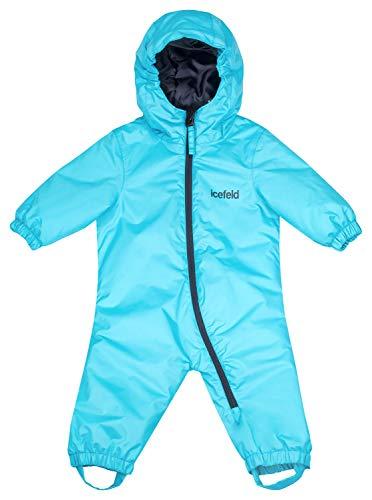 icefeld Schneeoverall/Skianzug für Babys und Kleinkinder (Jungen und Mädchen), türkis in Größe 62/68 | 04030907804742