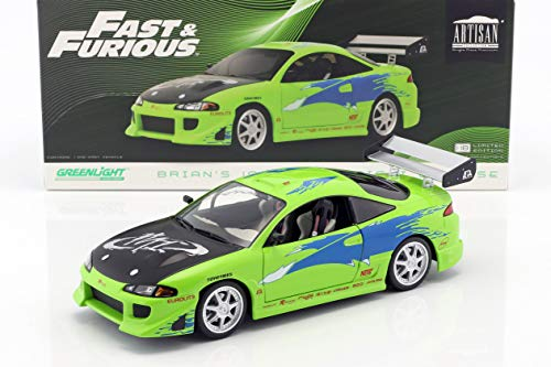 Greenlight Brian's Mitsubishi Eclipse Baujahr 1995 Film Fast and Furious (2001) grün 1:18