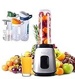 Li.Du Babynahrung Blender/Mixers, 500W elektrische Smoothie-Mixer für Obst/Gemüse, mit reinem Kupfer Motor-304 Edelstahl Klinge, 3 Reisebecher, 1 Mahlbecher/Hauptbecher/Vakuumpumpe