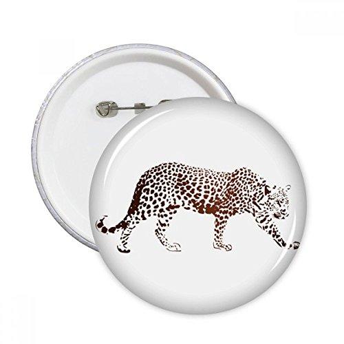 DIYthinker Cheetah Braun Tier Runde Stifte Abzeichen-Knopf Kleidung Dekoration Geschenk 5pcs Mehrfarbig L (Kinder Für Kleidung Cheetah)