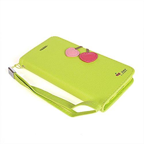 iPhone 6 Plus Coque,COOLKE [Vert] Flip Case PU Etui Housse Coque Cover pour Apple iPhone 6 Plus (5.5 inch) Vert