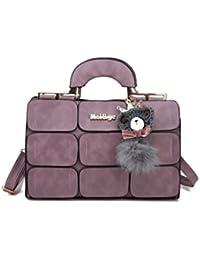 Premium Knit Bear And Pom Pom Detail Allover Patch Shoulder Bag