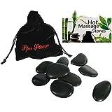 9Hot Rocks/Wellness/pierres de massage dans un élégant noir sac de rangement de stylos, superbe idée cadeau pour anniversaire, Noël, mères/pères jour