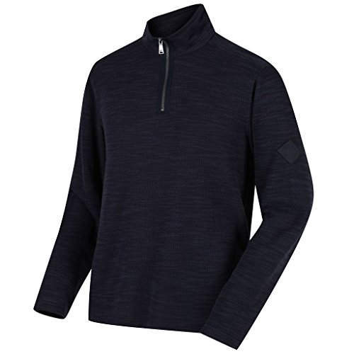 Regatta Mens Parnel Lightweight Half Zip Fleece Thermal Pullover Navy XXL Half Zip Thermal