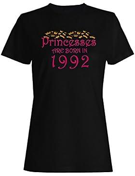 Las princesas nacen en 1992 camiseta de las mujeres y75f