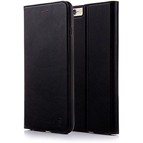 Nouske Funda tipo cartera para iPhone 6 y 6S de 4,7 pulgadas de Apple, negra