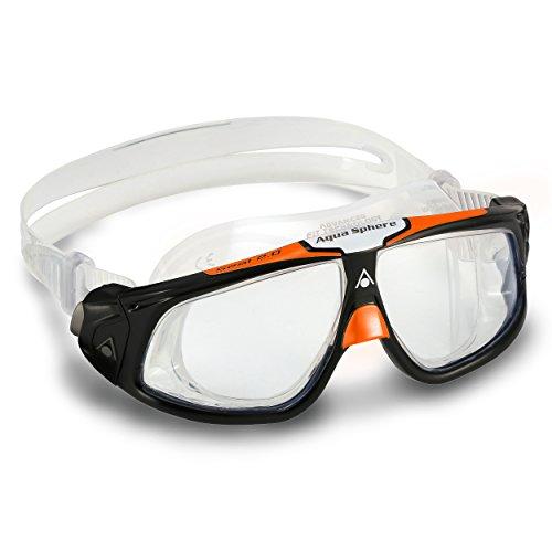 Aqua Sphere Seal 2.0 Schwimmbrille schwarz/orange Regular Fit